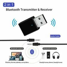 USB Bluetooth 5.0 Audio Transmitter + Receiver Adapter for TV PC Car AUX Speaker