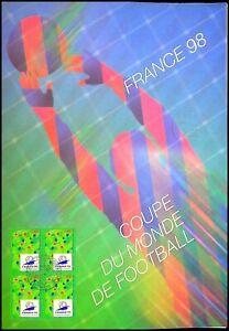 Timbre 1er jour sur document philatélique  - Coupe du Monde France 1998 (5)