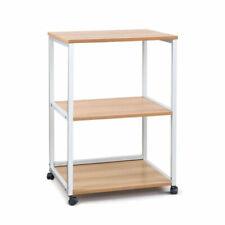 NEW AIM PSD-3TR-LW Portable 3 Tier Stand Storage Trolley - Light Wood