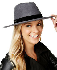 Calvin Klein Women's Velvet-Band Panama Hat, Grey, One Size