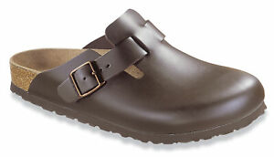 Birkenstock Boston Smooth Leather Unisex Clogs slippers footbed mules - NEW