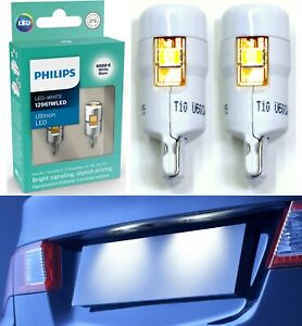 Philips Ultinon LED Light 12961 194 White Two Bulb License Plate Replace Color