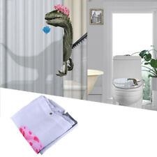 3D Funny Dinosaur Polyester Bath Bathroom Shower Curtain With 12 Hooks 180*180