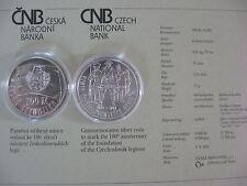 La república checa 2014 200 coronas moneda de plata coin St bu-checoslovacos Legion