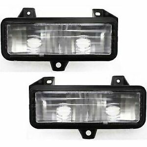 Parking Light For 92-95 Chevrolet G20 89-91 Blazer Set of 2 Left & Right Side