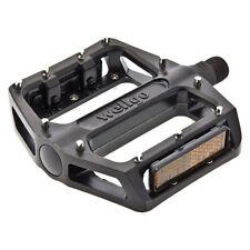 coppia pedali bmx in alluminio pro nero con perno grosso 9/16 WELLGO flat bici p