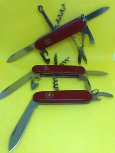 Lot 3 knifes VICTORINOX: Climber, Spartan 91 mm and Waiter 84 mm