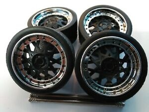JADA 1/24 SCALE WHEELS & TIRES FOR REPAIRING FITS BUICK REGAL OR DUB CITY TRUCKS