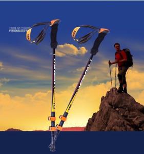 Hiking Trekking Stick Ultralight Fiber Adjustable Camping Climbing Outdoor Gift