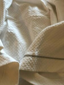 Restoration Hardware Baby Child Bassinete Quilted Dust Ruffles 24 drop Skirt