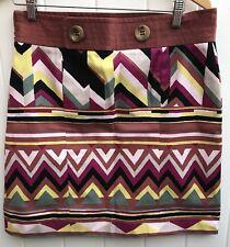 M Missoni - Geometric Print Multicolor Mini Skirt ,Size IT 48,US 12.