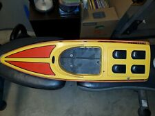 New listing Seamaster-Ii Rc Speed Boat Plastic Body Hull Untested No Controler NiCad Battery