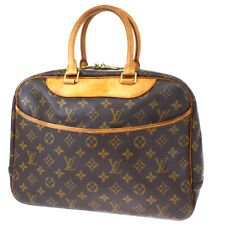 Authentic LOUIS VUITTON Deauville Hand Bag Monogram Leather Brown M47270 32MF676