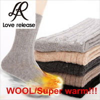 HOT!!5 Pairs Mens Super Warm THICKEN Wool Cashmere Socks BEST PRICE Size 9-11