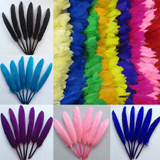 10 Color 20/100pcs 4-6 inches Lots Natural Goose Feather Wedding Crafts DIY New