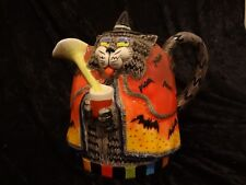 Retired Fitz and Floyd Kitty Witches Pitcher Halloween Cat Witch Bats