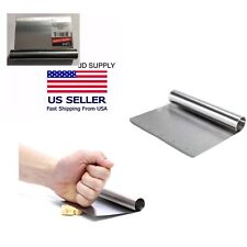 New Stainless-Steel Bench Scraper-Chopper With Ruler 6x4.5-in. Free Shipping.