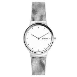 Skagen Ladies SKW2823 Freja Silver-Tone Steel-Mesh Swiss Made Watch