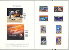 Gambia #798-807 Apollo 11, Galileo, Space, Einstein 8v & 2v s/s Imperf Proofs