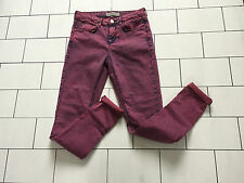 WOMENS ACID WASH HIGH WAISTED FESTIVAL TOPSHOP LEIGH SKINNY JEANS SIZE W28 X L30