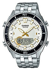 Casio Men's 'Ana-Digi' Metal and Stainless Steel Casual Watch AMW-720D-7AVCF