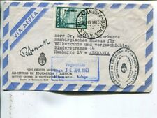 Argentina official stamp on air mail cover to Germany 1963