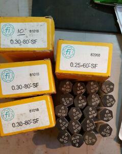fluidics steel oil burner nozzles -job lot- size 0.25-60-SF,0.30-80-SF