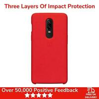 OnePlus 6 Case Cover Soft Silicone Protective - Genuine - Red