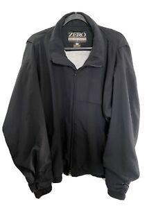 Vintage Ladies Womens Zero Restriction Golf Outerwear Jacket Black XL GORE-TEX