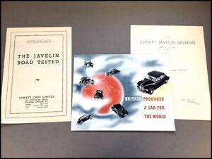 1946 Jowett Javelin Original Vintage Car Sales Brochure and Road Tests