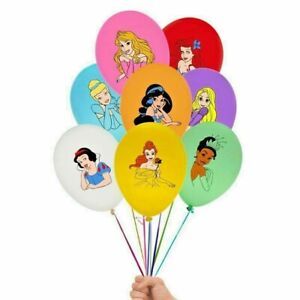 "8 X 12"" DISNEY PRINCESS Colour Latex Printed Balloons Birthday Party"