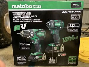 Metabo HPT KC18DBFL2(C) Brushless 18V Hammer Drill and Impact Driver Combo Kit