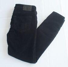 True Religion Women's Size 26 Black Halle Super Skinny Leg Velvet Jeans Pants