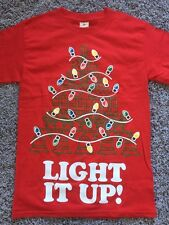 Red Light It Up Ugly Christmas Tee Funny Shirts Gift Ideas T-Shirt Size M New