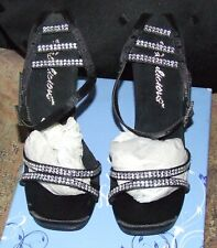BNWB Pleaser Chic 42 Black Satin / Black Matt UK 2 High Heels