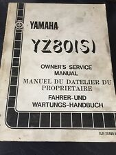 Yamaha YZ80(S) Service manual 1985