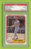 1981 Fleer Batting  - Mike Schmidt (#5) Philadelphia Phillies  PSA 9