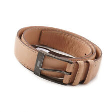 New $950 KITON Natural Pink Calf Leather Belt with Stitch Detail 38 W (95cm)