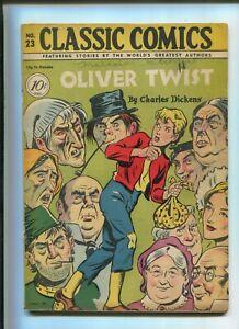 CLASSIC COMICS #23 (7.0) OLIVER TWIST 1ST PRINT