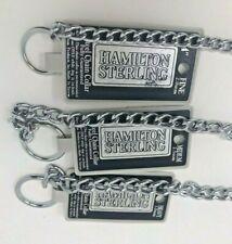 New Hamilton Sterling Steel Chain Dog Collar XFine, Fine, Medium, Heavy