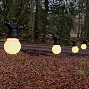 3 - 30 m Festoon Warm White Outdoor Garden LED String Lights   Party Globe Bulb