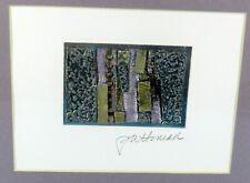 MERRI PATTINIAN Framed & SIGNED Original ABSTRACT ART COLLAGE Mixed Media
