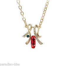 Collana Donna Cristallo Swarovski Elements elegante Rosso W79