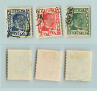 Lithuania 🇱🇹 1936 SC 296-300 used . rtb1925