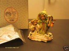 Cherished Teddies ` Beverly & Lila -We Wish you a Merry Christmas - 2 Angels