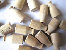 6 or 12 Miniature Wood Milk Bottles  unfinished wood( seconds ) dolls house farm