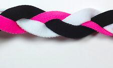 NEW Pink White Black Braid Hair Band Head Under Sweaty Headband Armour Non Slip