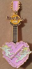 Hard Rock Cafe BANGKOK 2005 Valentine's Day PIN Pink HEART Guitar - HRC #26892
