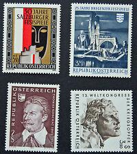 AUTRICHE timbre - Yvert et Tellier n°1163 à 1166 n** stamp Austria (cyn5)