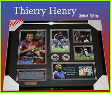 THIERRY HENRY SOCCER MEMORABILIA SIGNED FRAME LTD 499